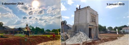 progres rumah contoh